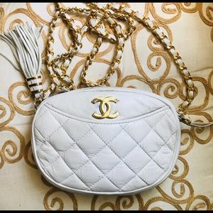 Vintage White Quilted Bag